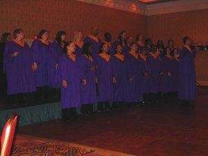The People's Gospel Choir of Montreal en ouverture de cérémonie