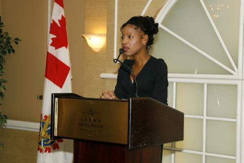 Allocution de Madame Yolande James, Ministre de l'Immigration et des Communautés culturelles