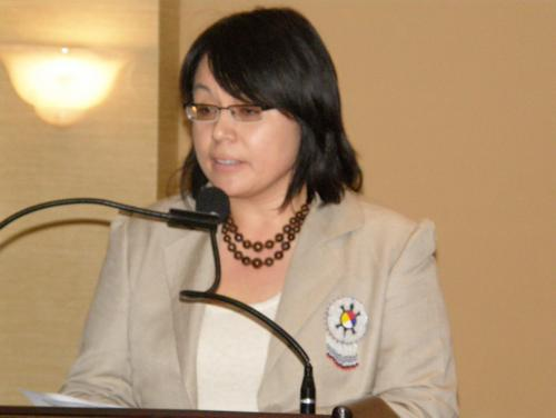 Allocution de Mme Eva Ottawa, Grand Chef/Présidente du Conseil de la Nation Atikamekw