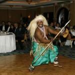 Danseur traditionnel rwandais