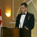 Capitaine Sylvain Coulombe, CD, des Forces canadiennes, lauréat du prix des artisans du non-racisme 2008